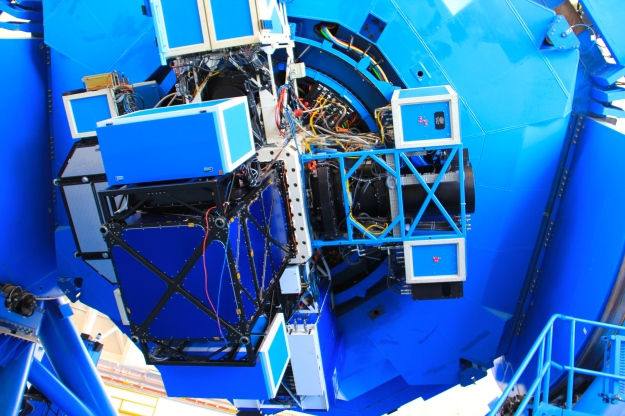Inner workings and instrumentation attached to the telescope