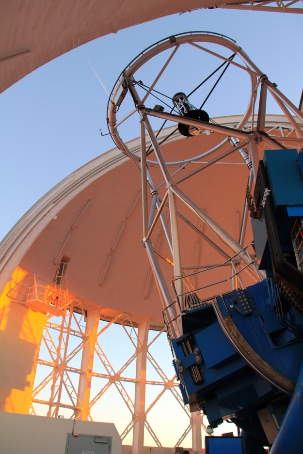 Gemini Telescope getting ready for the night's observations